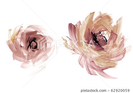 精緻的水彩手繪花卉素材 62920059