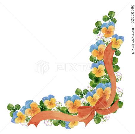中提琴,三葉草和絲帶 62920996