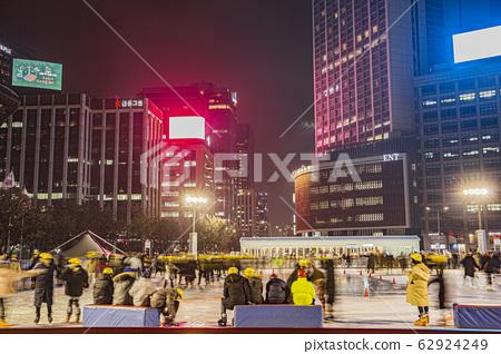 Christmas decoration street scenes in Korea 016 62924249