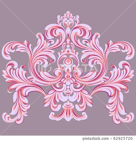 紅色美麗復古巴洛克風格元素 62925720