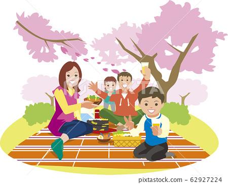 가족 꽃놀이 62927224
