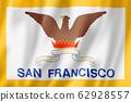 San Francisco city flag, California, USA 62928557