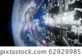 Spaceships in space 3D rendering 62929985