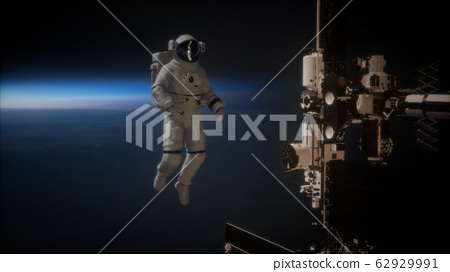 International Space Station and astronaut in outer 62929991