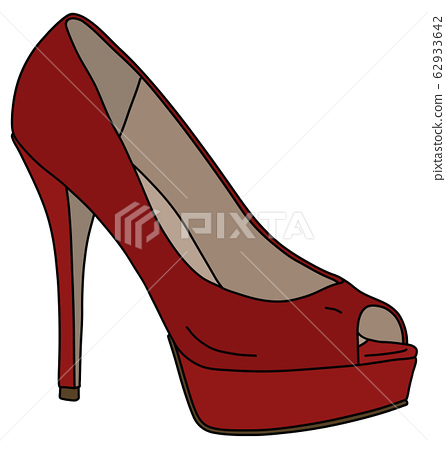 The red shoe on high heel 62933642