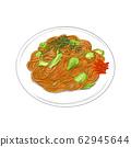 Fried noodles 62945644