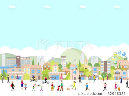 城市景觀的人 62948383