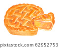 Apple pie 02 (watercolor painting) 62952753