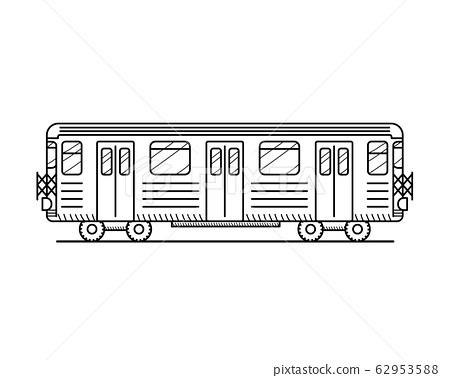 Metro Train. Black 62953588