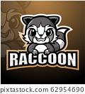 Raccoon mascot esport logo design 62954690