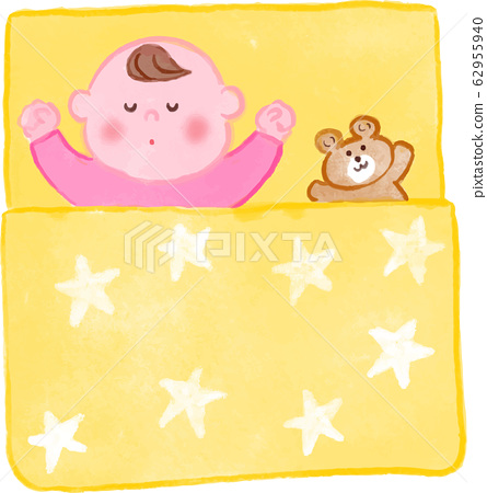 Baby towel blanket watercolor 62955940