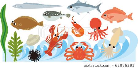 바다의 해산물 62956293