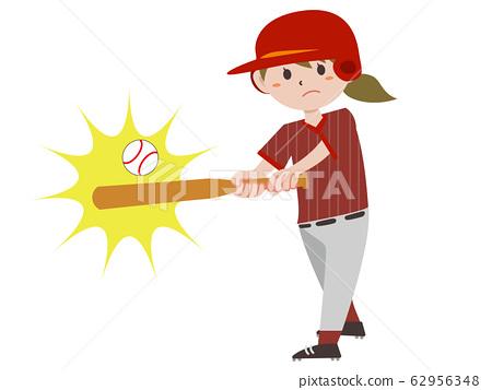 야구 타자 여성 62956348