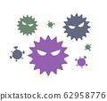 바이러스의 일러스트, 아이콘, 감염, 꽃가루, 질병, 감기, 세균 62958776