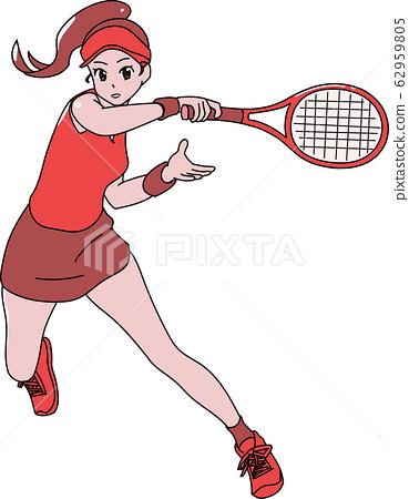 테니스 선수 여성 62959805