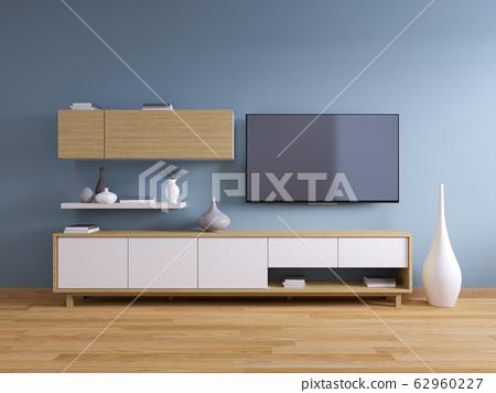 Tv Stand Modern Interiorof Living Room Design Stock Illustration 62960227 Pixta