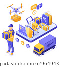 Isometric Online Shopping Delivery 62964943