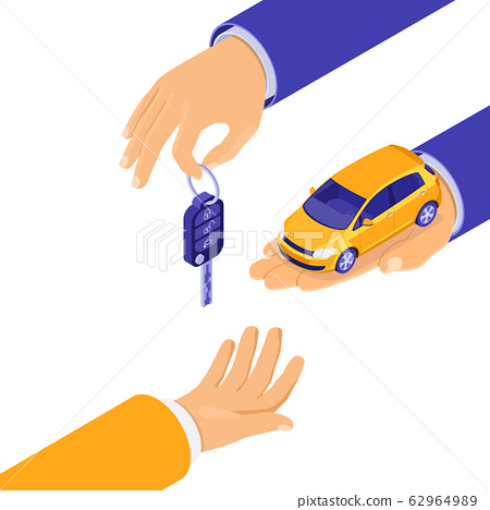 Sale Purchase Rental Sharing Car Isometric 62964989