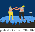 Music band performs on a stage. Vector design. 62965182