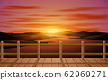 landscape of wooden bridge at the river in the morning 62969271