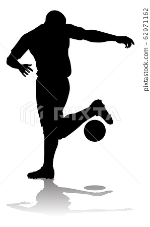 Soccer Football Player Silhouette 62971162