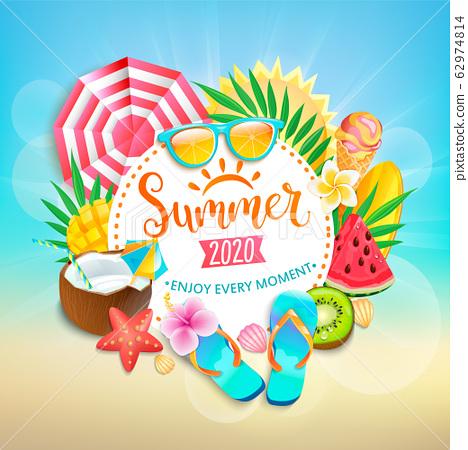 Summer 2020 greeting banner. 62974814