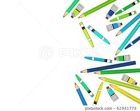 各種美術用品插圖背景 62981778