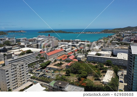 Aerial view of Noumea cityscape 62988688