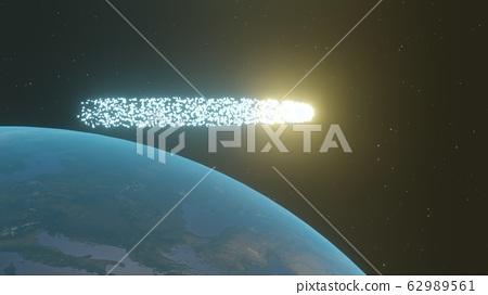 지구를 가로 지르는 신비의 유성 62989561
