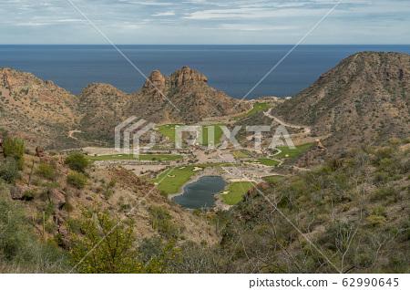 baja california golf course aerial view 62990645
