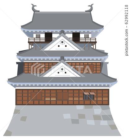 이요 마츠야마 성 이미지 관광지 일러스트 아이콘 62992118