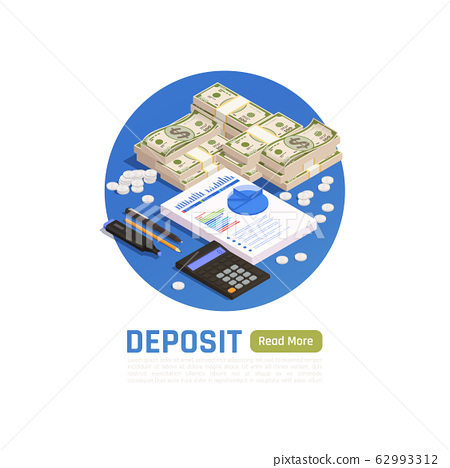 Wealth Management Isometric Design Concept  62993312