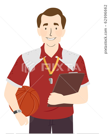 Man Physical Education Teacher Illustration 62996662