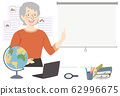 Girl Senior Geography Teacher Illustration 62996675