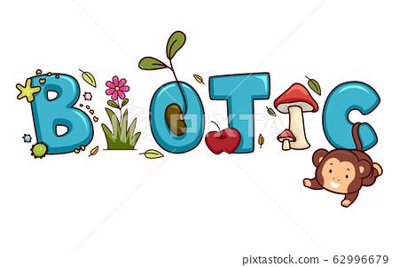 Biotic Lettering Illustration 62996679