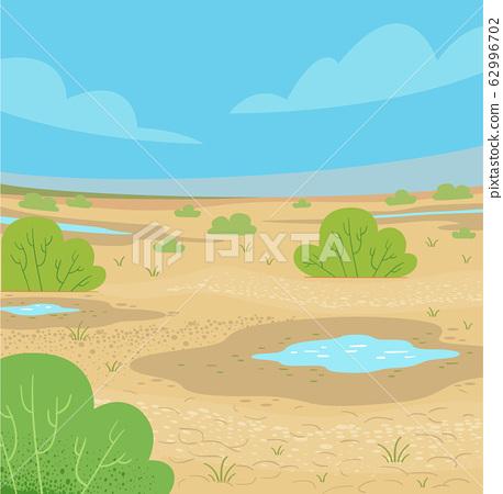 Wet Desert Illustration 62996702