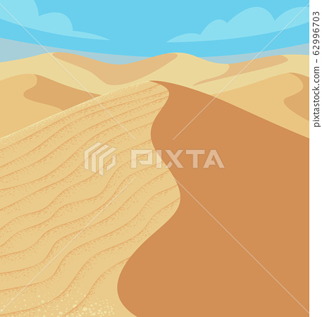 Desert Sand Dunes Illustration 62996703