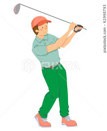 高爾夫選手(無縫) 62998793