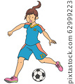 Women's soccer player 62999223