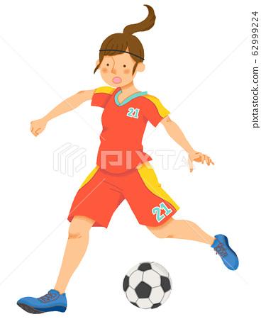 여자 축구 선수 (원활) 62999224
