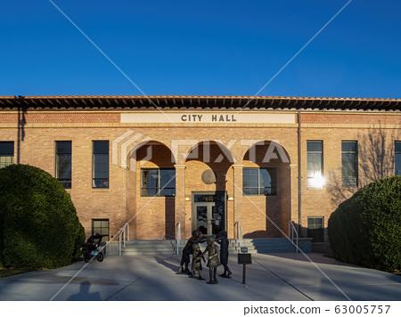 Exterior sunny view of the Boulder City City Hall 63005757