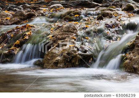 Waterfall Kosyvskiy Huk in the Carpathian 63006239