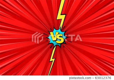 Cartoon Comic Background Fight Versus Comics Stock Illustration 63012376 Pixta