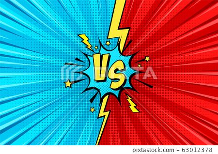 Cartoon Comic Background Fight Versus Comics Stock Illustration 63012378 Pixta