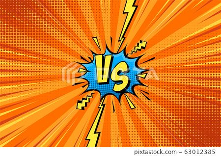 Cartoon Comic Background Fight Versus Comics Stock Illustration 63012385 Pixta