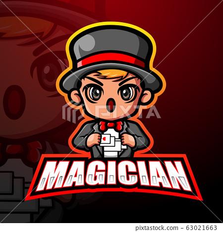 Magician mascot esport logo design 63021663
