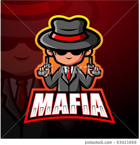 Mafia mascot esport logo design 63021668