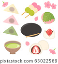 Spring Japanese confectionery 63022569