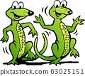 Vector Cartoon illustration of a Two Happy Dancing 63025151