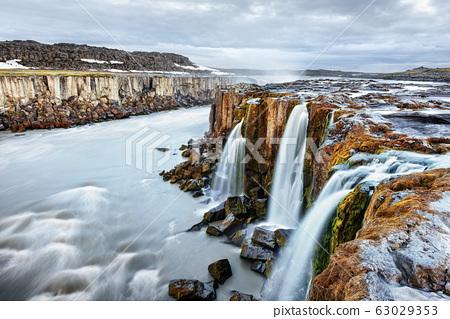 Famous Selfoss waterfall 63029353